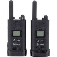 Cobra PU 500 Pro Business Two Way Radios 16 Preset Channels Range 8km Ref PU500B+SV-01 (Pair)