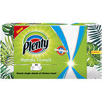 Plenty Handy Kitchen Towels 2-Ply 75 Sheets per Box Ref C001749 Pack of 8