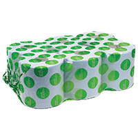 Maxima Green Dispenser Toilet Refill Paper Tissue Rolls Centrefeed 2-Ply 150m Blue Pack of 6