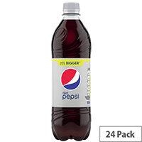 Diet Pepsi Cola Soft Drink 600ml Soft Drink Bottles Pack of 24
