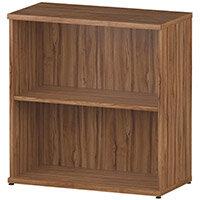 Low Bookcase with 1 Shelf H800mm Walnut