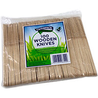 Robinson Young Natural birchwood Knives Ref 10567 Pack of 100
