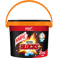 Harpic Urinal Blocks 3kg Tub of 150 Tablets