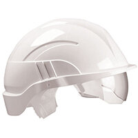 Centurion Vision Plus Safety Helmet Integrated Visor White Ref CNS10PLUSEWA