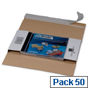 CD Jewel DL Case Mailer Boxes Self Adhesive Tear Off Strip 225x125x12mm Pack of 50
