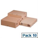 Smartbox Cartons With Lid 305x215x150mm Brown Pack of 10