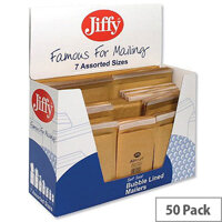 Jiffy Assorted Sizes Gold Padded Protective Envelopes 50 Pack