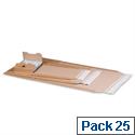 Postal Envelopes 335x275x80mm Crinkle Edges Self Seal Pack of 25