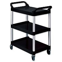 Rubbermaid Utility Cart Polypropylene 3 Tiers Scratch Resistant