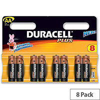 Duracell Plus AA Alkaline 1.5V Battery (8 Pack) 81275377