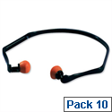 3M Banded Ear Plugs Lightweight Noise Rreduction 26dB Pack 10 Pairs