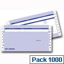 Communisis Pegasus Compatible Secure Pay Advice 3 Part Box 1000