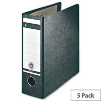 Leitz 180 A5 Upright Black 77mm Lever Arch File Pack of 5