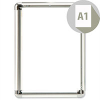 Display Frame Aluminium Front-loading with Fixings A1 Promote-It Photo Album Company