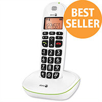 Doro PhoneEasy 100w Telephone Single Cordless Big Buttons Suitable For Use With Hearing Aid. Call Range Of 300m Outdoors. Ideal For Homes, Offices & More.