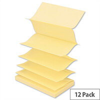 Post-it Z Notes 76x127mm Canary Yellow Pack 12