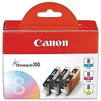 Canon CLI-8 C/M/Y ( 0621B026 ) 3 Colours: Cyan, Magenta, Yellow Ink Cartridge Original