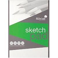 Silvine  A4  Popular Drawing Pad Acid Free Cartridge Paper 100g/m2  50 Sheets