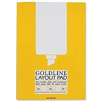 Goldline A4 Bank Paper Layout Pad 80 Pages GPL1A4Z