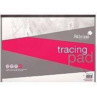 Silvine  A3  Popular Tracing Pad Acid Free Paper 63gsm  50 Sheets