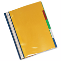 Rexel File 5-Part Plastic A4 Opaque with Colour-coded Indexed Sections