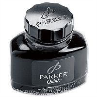 Parker Quink Ink Bottle Black 57ml – Smooth, Blot Free, Suitable For Fountain Pens, No Skipping Or Scratching, Permanent Ink & Dry's Quickly (S0037460)