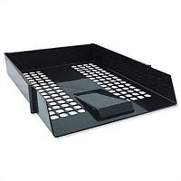 Avery Basics Black Letter Tray Stackable A4 Foolscap Ref 1132BLK