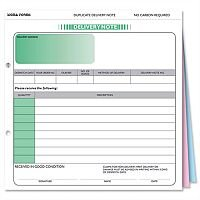 Delivery Note Form 3 Part Set 207x220mm SD3 Pack 50 Sigma
