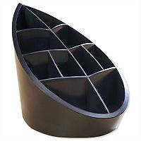 Recycled Pen Pot Black 10 Compartments Leaf Design Avery DTR Eco