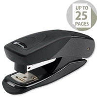 Rexel Matador Stapler Half Strip Metallic Black