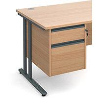 Maestro 25 GL 2 drawer fixed pedestal - beech
