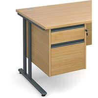 Maestro 25 GL 2 drawer fixed pedestal - oak