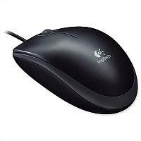 Logitech B100 Corded Optical Mouse USB Black 910-003357