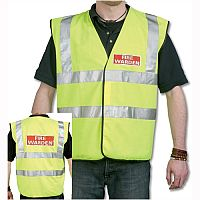 IVG Fire Warden Vest High Visibility XL Yellow with Fire Warden Reflective Logo Ref IVGSFWV