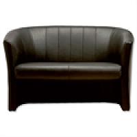 Sonix Leather Tub Sofa - W1220xD660xH760mm
