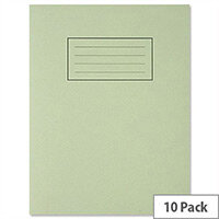 Silvine Exercise Book Ruled and Margin 80 Pages 229x178mm Green Ref EX102 [Pack 10]
