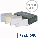Conqueror Laid DL Wallet Envelopes Peel and Seal Vellum (Pack of 500)
