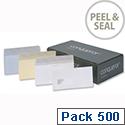 Conqueror Laid DL Wallet Envelopes Brilliant White (Pack of 500)