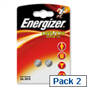Energizer LR44/A76 Button Cell Coin Batteries 1.5V Pack 2
