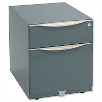 Bisley Wave Mobile Pedestal A4W Stationery and File Drawer 495H Grey WVA59MSF-F4