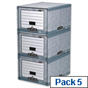 Fellowes Bankers Box System Archive Foolscap Storage Drawer 01820 Pack 5