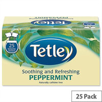 Tetley Peppermint Tea Bags Finest Pack 25
