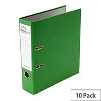Rexel Karnival A4 Green Lever Arch File Pack 10