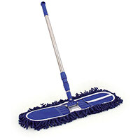 Charles Bentley Dustbuster Sweeper Snap Frame with Telescopic Handle 60cm Blue SPC/DB60