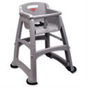 Rubbermaid Sturdy High Chair for Infants Durable Plastic with Feet Capacity 18kg Grey 7814-EUGRY