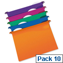 Rexel Multifile Foolscap Suspension File Plastic 30mm Assorted Pack 10