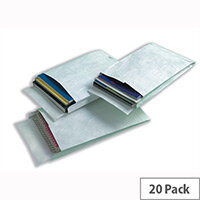 Tyvek B4A 330x250x38mm Peel and Seal White Gusset Envelopes Pack of 20
