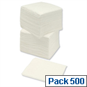 Caterpack Paper Napkins Economy Single-ply 330x330mm White Pack 500