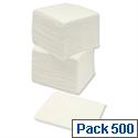 Paper Napkins Economy 1-Ply Tissue 330x330mm White Pack 500
