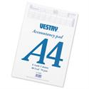 A4 Accountants Pad 8 Audit Column 80 Leaf CV2092 Vestry